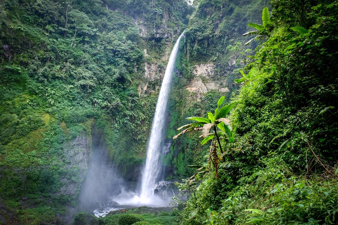 Coban Pelangi Waterfall in East Java Indonesia