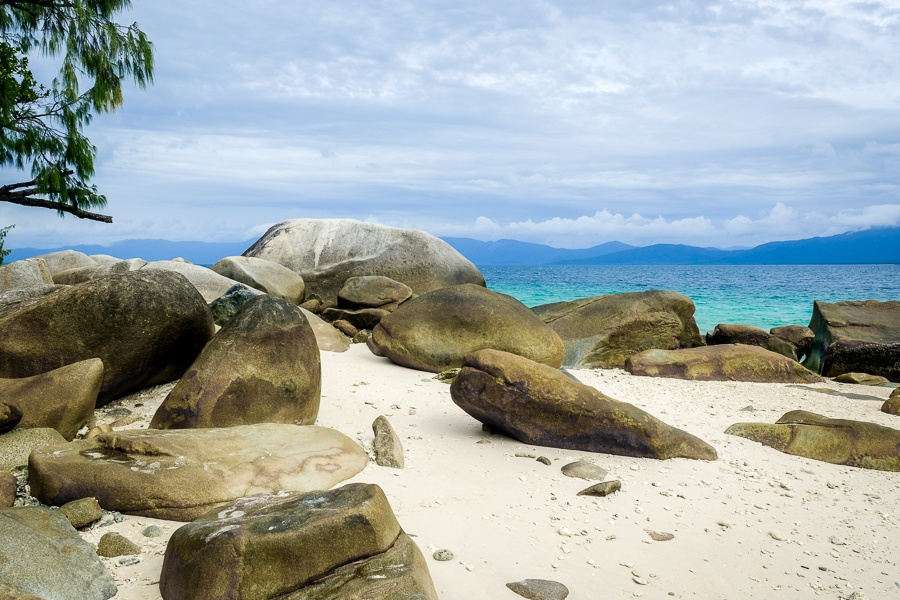 Nudey Beach rocks on Fitzroy Island in Australia