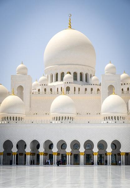 Sheikh Zayed Grand Mosque doorways in Abu Dhabi UAE