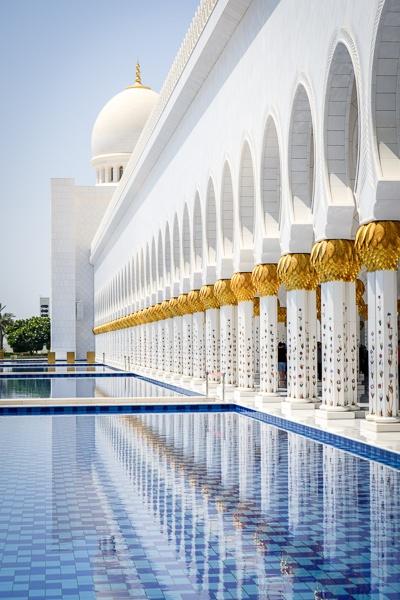 Reflecting pool and doorways