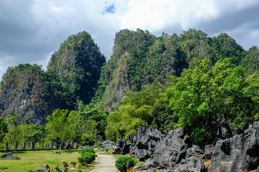 Karst mountains at Leang Leang in south Sulawesi