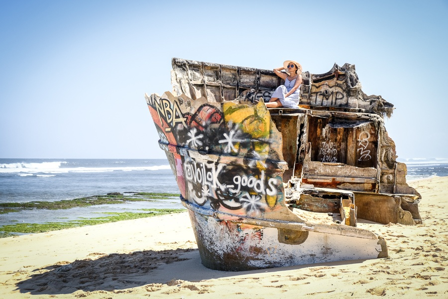 Nunggalan Beach Shipwreck in Bali