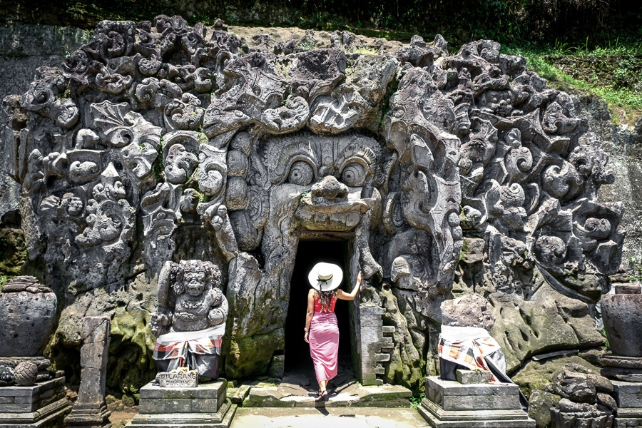 Goa Gajah Temple doorway in Ubud Bali