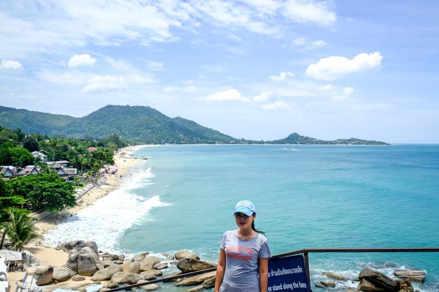 Lamai Beach Viewpoint in Koh Samui Thailand