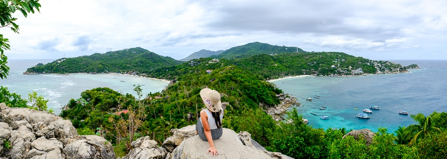 John Suwan viewpoint in Koh Tao