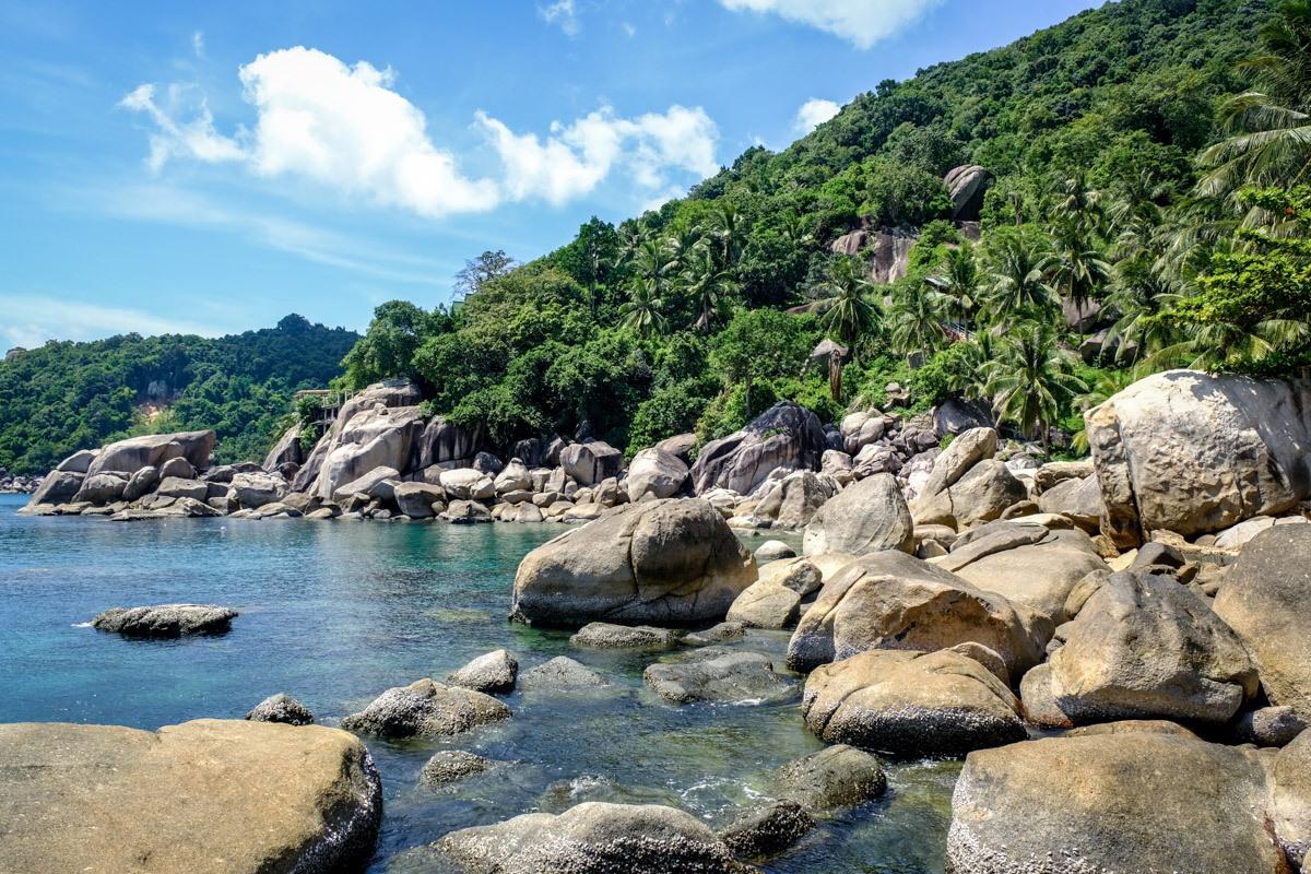 Ao Hin Wong Bay Beach In Koh Tao Thailand