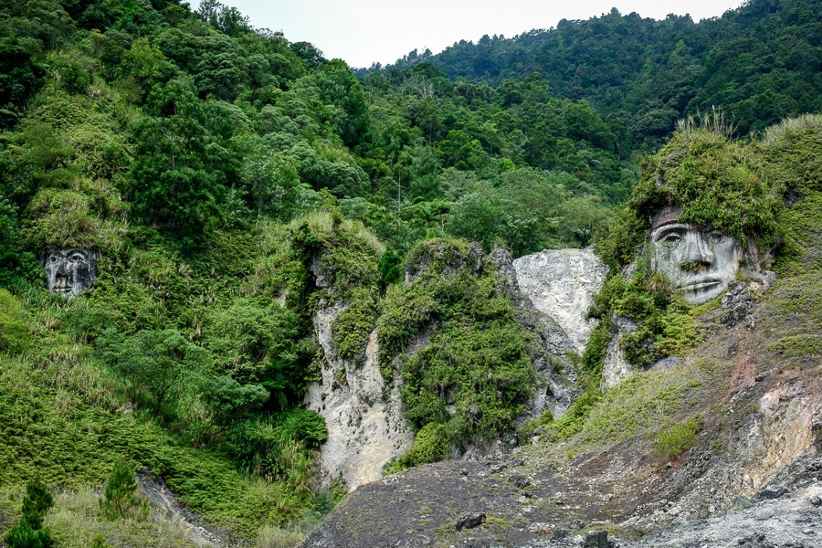 Tomohon hill faces in Sulawesi