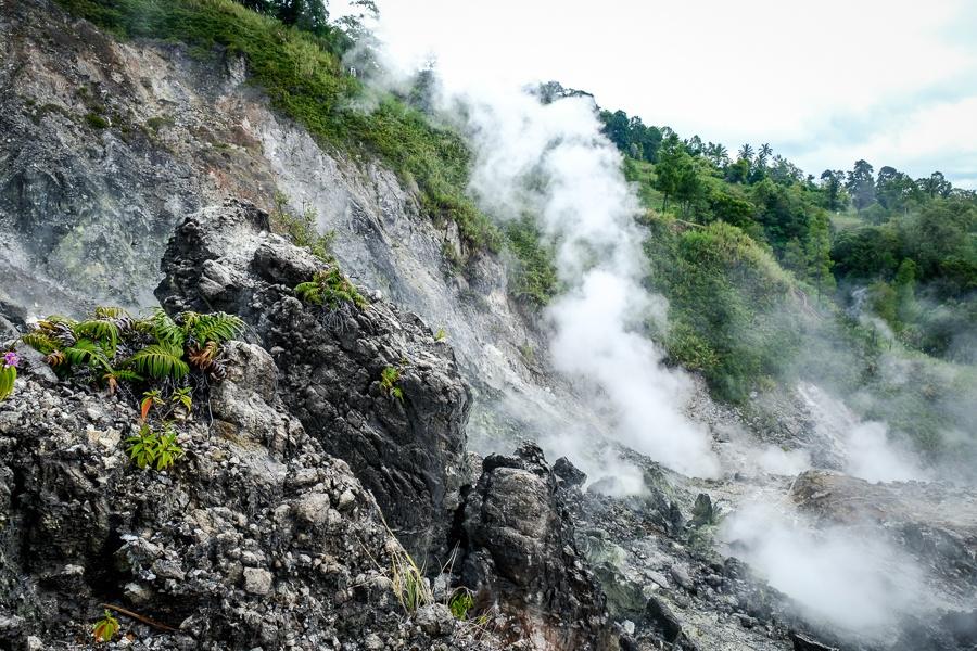 Geothermal volcanic pots at Bukit Kasih