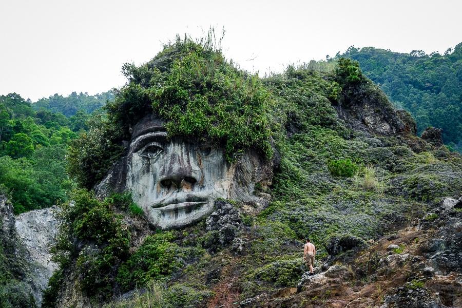 Bukit Kasih stone face in Manado Sulawesi Indonesia