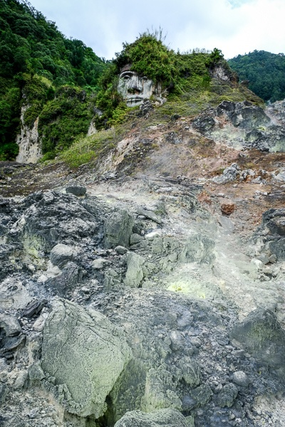Tomohon volcanic vents and geothermal pots
