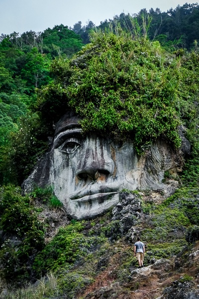 Toar stone face in Tomohon