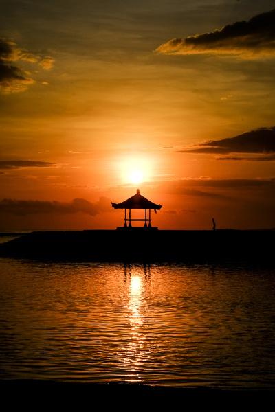 Pagoda at the Sanur Beach Sunrise in Bali