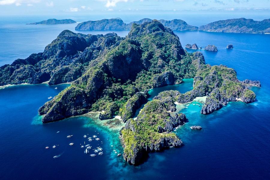El Nido Miniloc island in Palawan Philippines