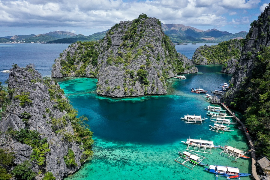 Kayangan lake viewpoint in Coron Palawan Philippines