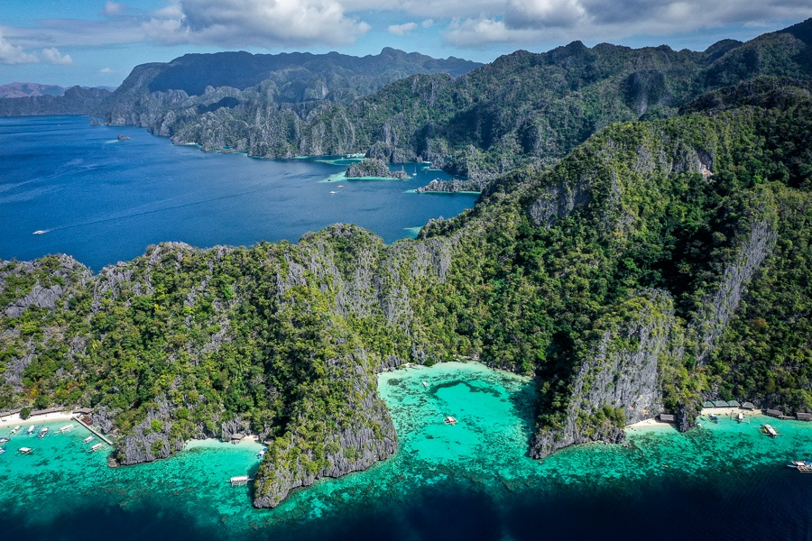 Coron Palawan drone picture cliffs