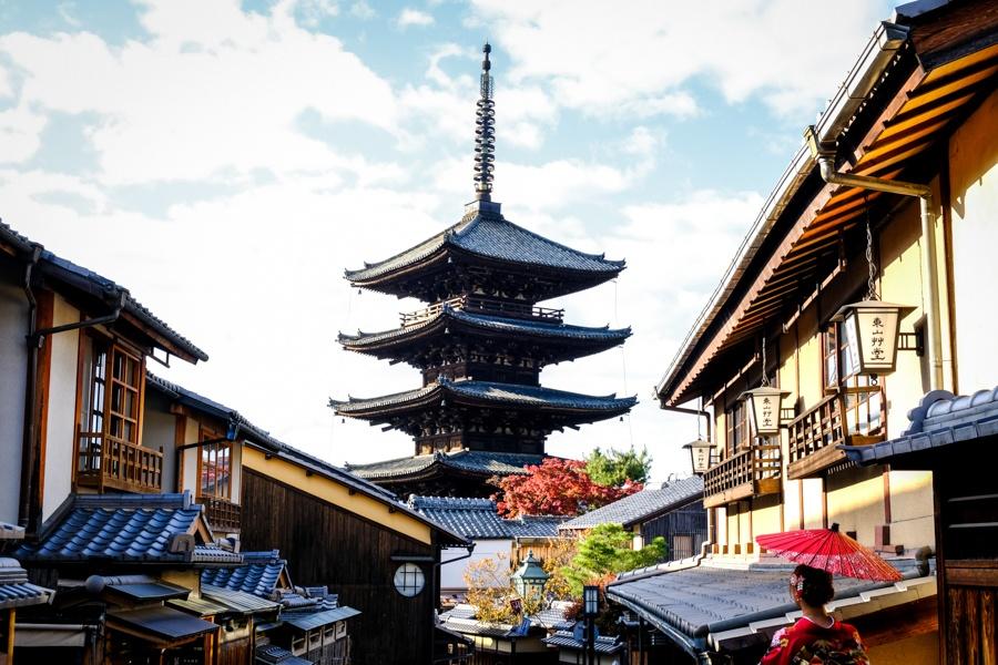 kyoto town pagoda