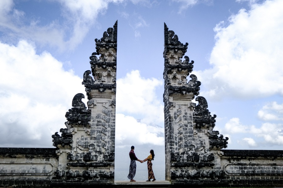 Pura Lempuyang Temple gate in Bali