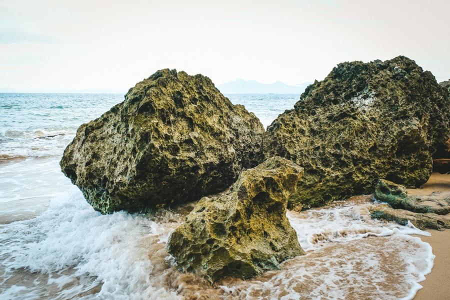 Sea rocks at Tegal Wangi Beach in Bali
