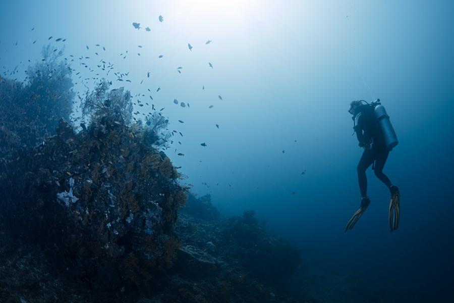 Scuba diver in Amed, Bali