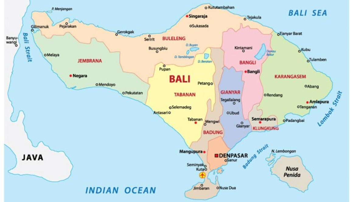 Where Is Bali Located In India Map