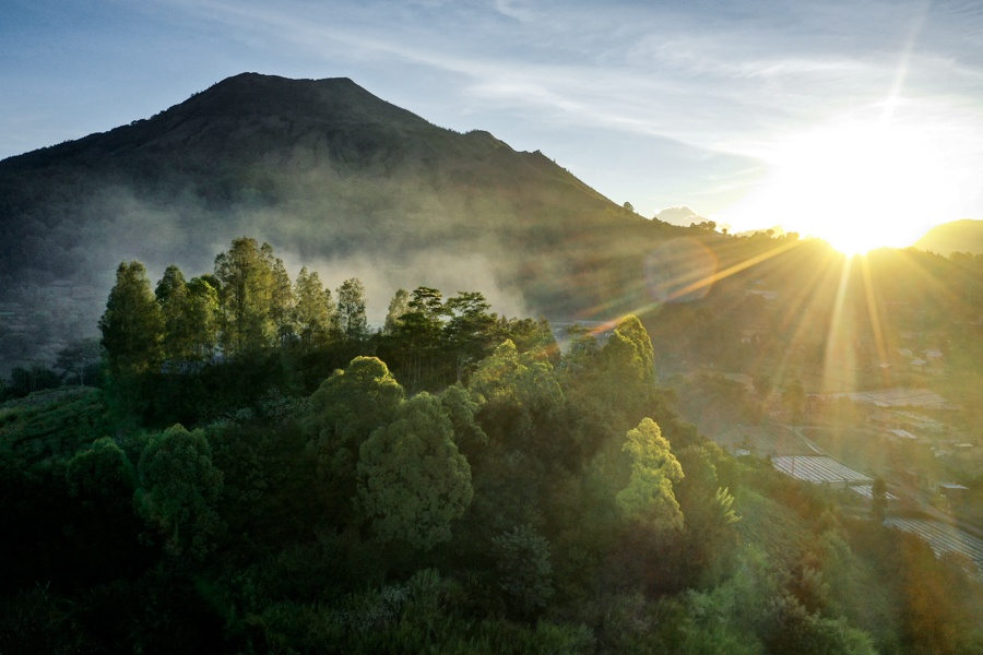 Mount Batur sunset view