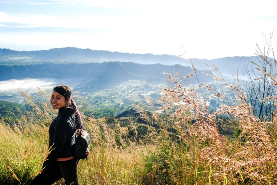 Trekking back to Kintamani village