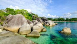 Pantai Tanjung Tinggi Beach In Belitung Indonesia