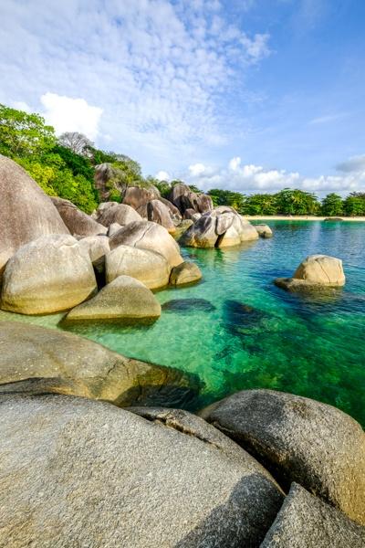 Pantai Tanjung Tinggi Beach In Belitung Indonesia