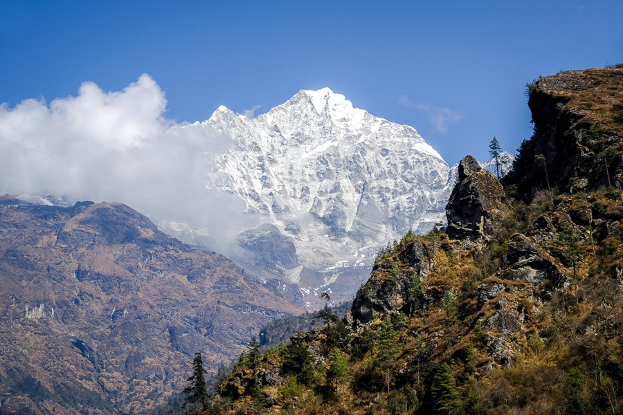 Mountains near Lukla on the EBC Trek in Nepal
