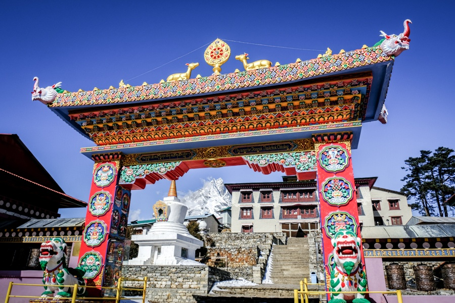 Tengboche gate on the EBC Trek in Nepal