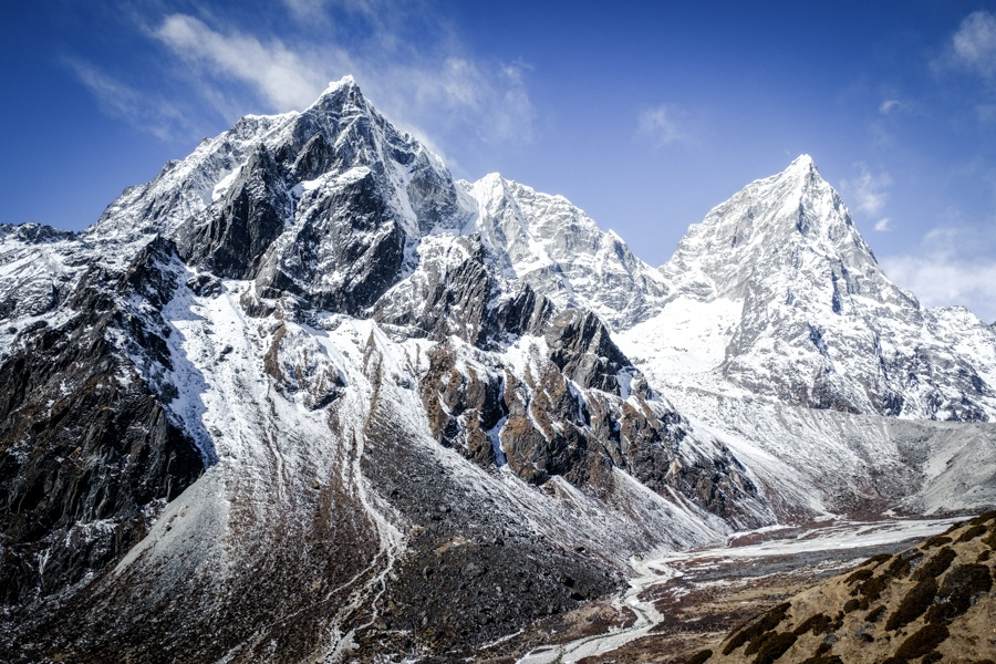 Mountains near Dingboche on the EBC Trek in Nepal