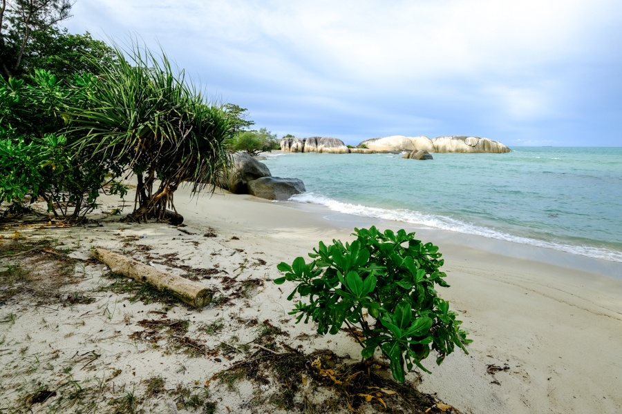 Pantai Penyabong Beach in Belitung