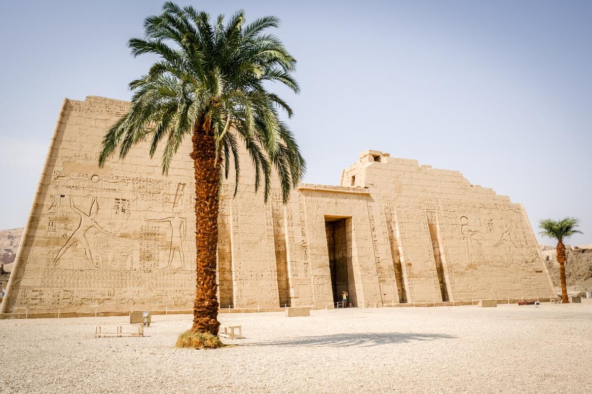 Medinet Habu Temple in Egypt