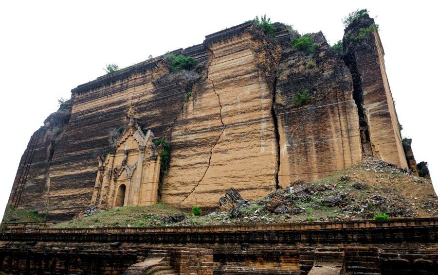 Giant Mingun Pagoda in Myanmar