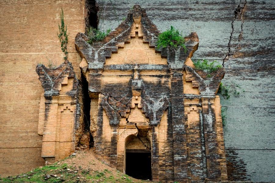 Ancient doorway at Mingun Myanmar
