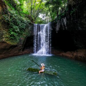 Suwat Waterfall raft in Bali
