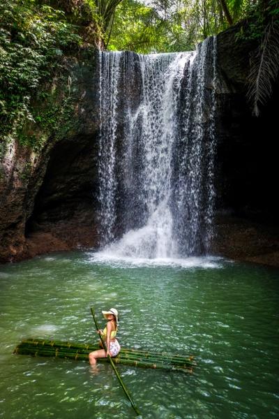 Suwat Waterfall raft in Bali