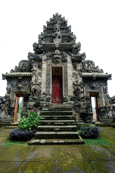 Balinese stone gate at Pura Kehen Temple in Bali
