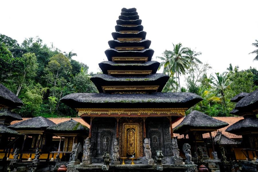 Pura Kehen temple pagoda meru in Bali