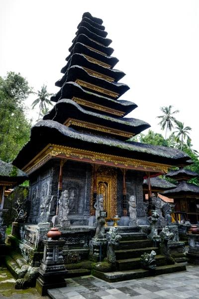 Balinese meru temple pagoda at Pura Kehen Temple in Bangli Bali