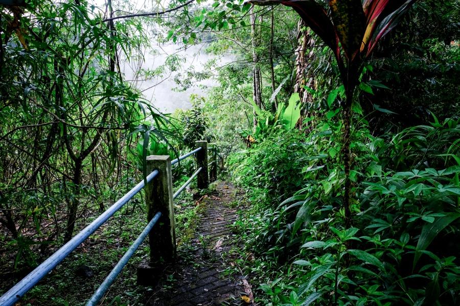 Entrance path to Air Terjun Kanderawatu Waterfall