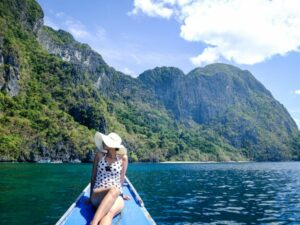 My woman at Cadlao island in El Nido Palawan