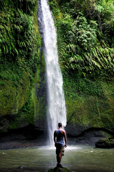 Air Terjun Tumimperas Waterfall in Tomohon Sulawesi