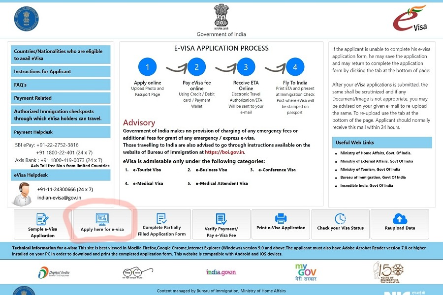 India eVisa application guide and steps