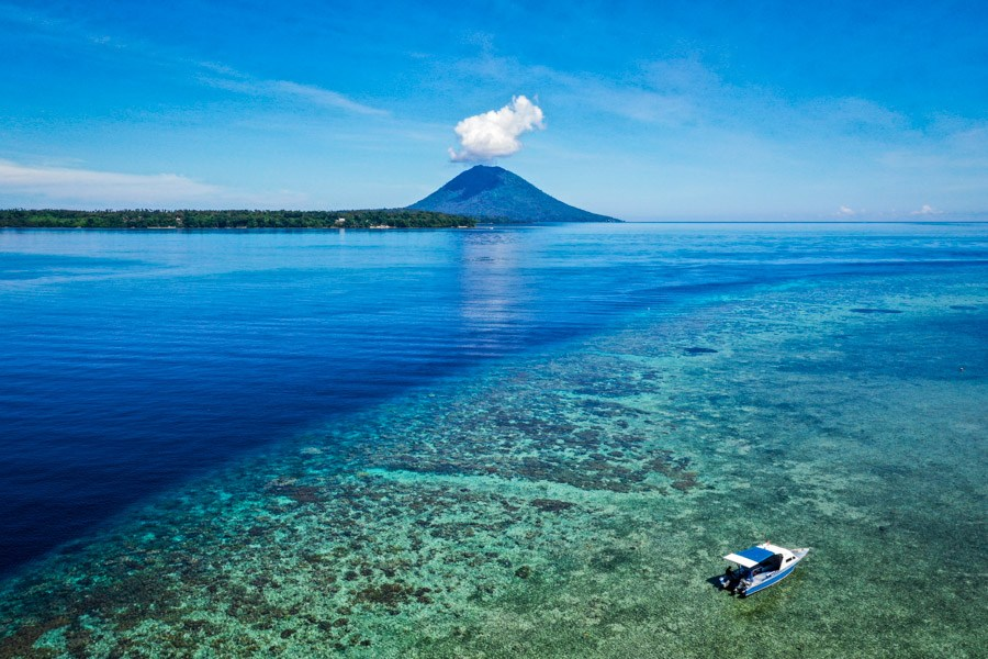 Bunaken island in Indonesia