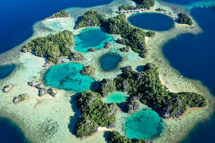 Sombori Island Pulau Kayangan Viewpoint drone picture in Sulawesi