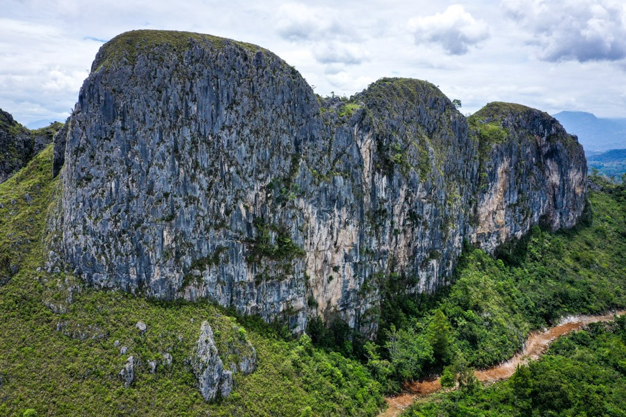 Drone picture of mountains near Makale