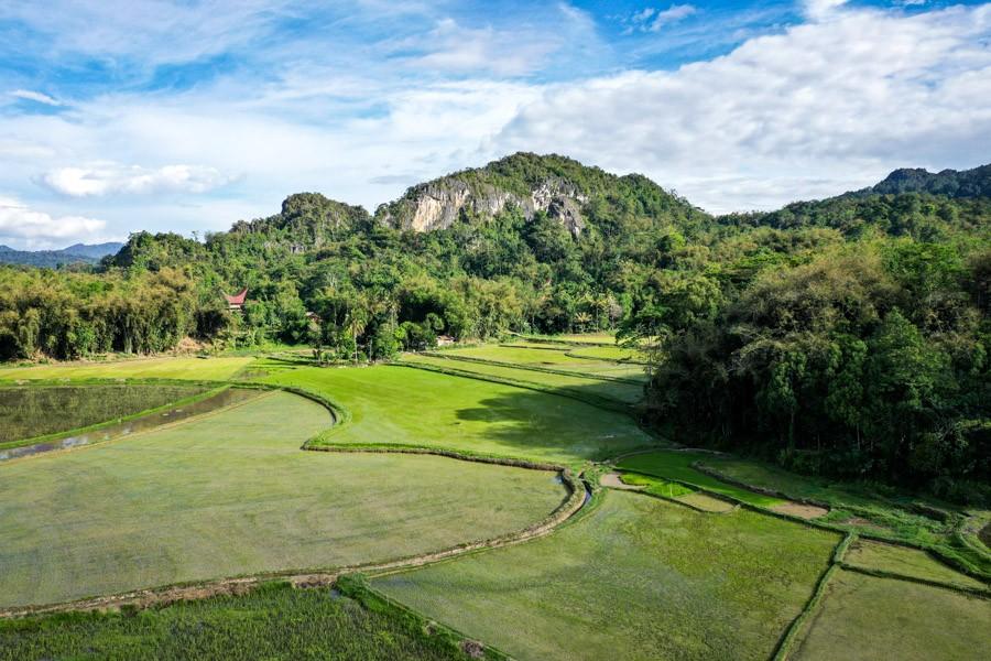 Tana Toraja drone picture near Rantepao Indonesia