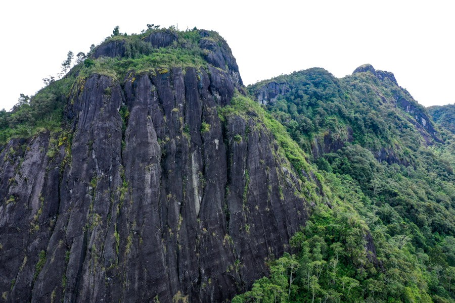 Peak of Mount Sesean in Tana Toraja Indonesia