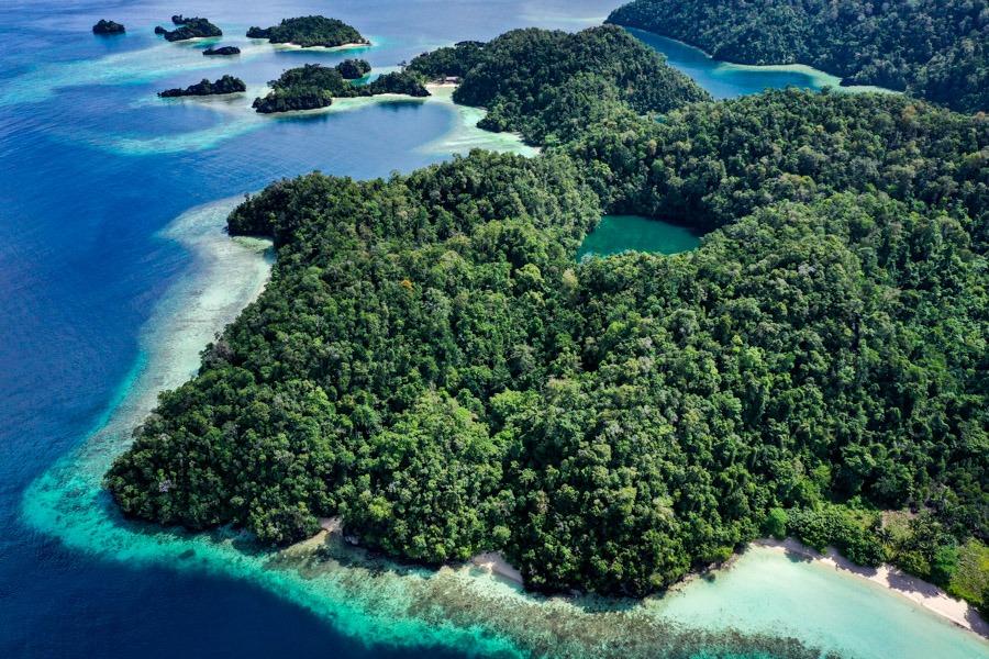 Labengki Island drone picture